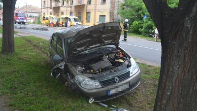 Baleset 2020.08.14.-én. Fotó: police.hu