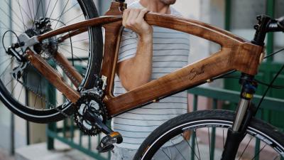A Satti Wood Bike egyik kerékpárja, melynek alapja Eleken készül. Fotó: Satti Wood Bike