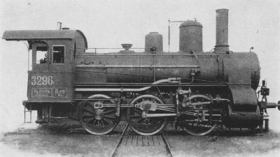A IIIq. osztályú, 1911 után 325 sorozatú mozdony (forrás: MÁV)