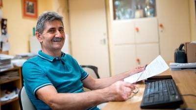 Nagy Zsolt nevelőtanár. Fotó: Békéscsabai Szakképzési Centrum