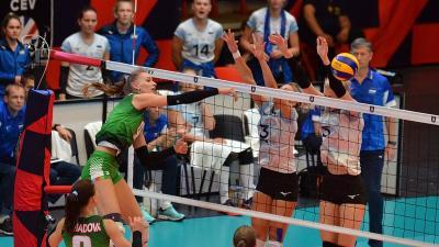 Anastasiya Bezsonova a budapesti EB-mérkőzéseken is pályára lépett (Fotó: Kuti István)