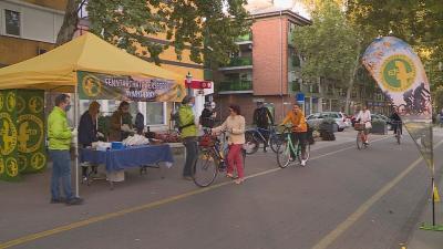 Meglepetés reggeli a kerékpárosoknak Fotó: Bagi József