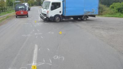 Baleset Békéscsaba külterületén 2020.08.31.-én. Fotó: police.hu
