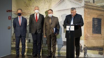 Szarvas Péter, Herczeg Tamás, Fekete Péter és Ando György. Fotó: Papp Ádám / behir.hu