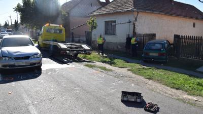 Baleset Sarkadon 2020.09.08.-án. Fotó: police.hu