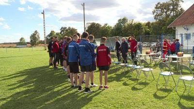 A Szabadkígyósi Szabadidő Sport Club focistái együtt teljesítették a távot a jó cél érdekében Fotó: Máthé Csongor