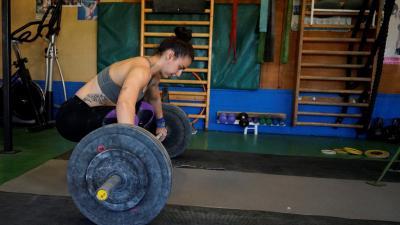 Mitykó Veronika edzés közben - (Fotó: Hidvégi Dávid/behir.hu)