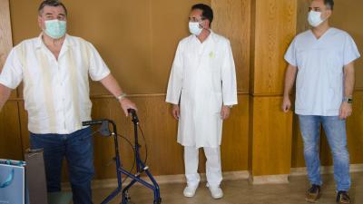 A képen balról: dr. Patakfalvi János, dr. Svarsnig Lajos és dr. Duray Gergő. Fotó: Melega Krisztián/Orosházi Kórház