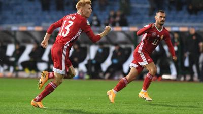 Kalmár Zsolt (13) egy góllal és egy gólpasszal járult hozzá a győzelemhez (Fotó: mlsz.hu)