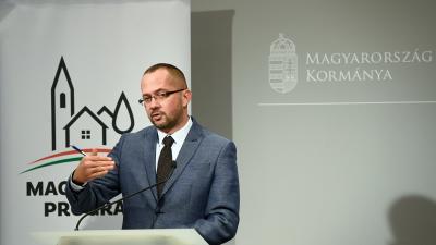 Gyopáros Alpár, a modern települések fejlesztéséért felelős kormánybiztos (Forrás: MTI / Koszticsák Szilárd)