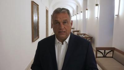 Orbán Viktor miniszterelnök az ülés után (fotó: koronavirus.gov.hu)