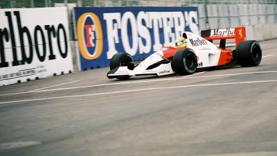 Ayrton Senna az 1991-es Amerikai nagydíjon – (Fotó: Wikipédia)