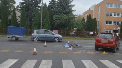 Baleset Békéscsabán 2020.09.30.-án. Fotó: police.hu