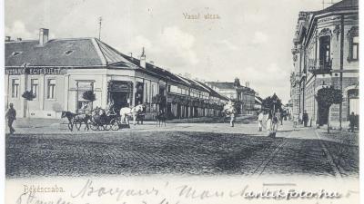 A békéscsabai Andrássy út 1910-ben (forrás: antikfoto.hu)