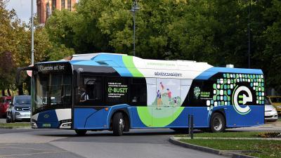 Elektromos busz Békéscsabán. Fotó: Volánbusz Zrt.