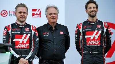 Kevin Magnussen, Gene Haas és Romain Grosjean – (Fotó XPB)