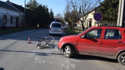 A tótkomlósi baleset – (Fotó: police.hu)