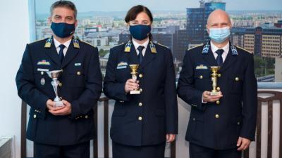 Az elismerésben részesültek. Fotó: police.hu