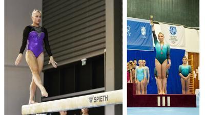 Balra Makra Noémi, jobbra Szujó Hanna a hétvégi versenyen. Fotók: Torna Club Békéscsaba