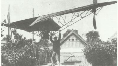 Ős Lajos és Fikker Károly helikoptere (Fotó: Közlekedési Múzeum)