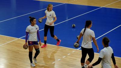 Túl vannak az első edzéseken, de átmenetileg meccsek és tréningek sem lehetnek a sportcsarnokban – (Fotó: behir.hu)