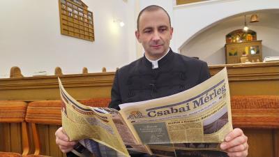 Marti Miklós református lelkész (fotó: behir.hu/Ujházi György)