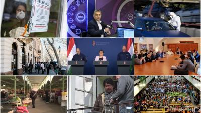 Búcsúztatjuk az évet - ez történt 2020 márciusában. Fotó: behir.hu