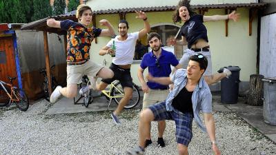 A Foolabout zenekar az Elefánt Klub udvarán – Fotó: behir.hu/Such Tamás