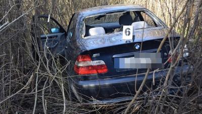 A tarhosi baleset (fotó: police.hu)