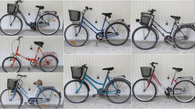 Lopott és lefoglalt kerékpárok tulajdonosait keresi a rendőrség. Fotó: police.hu