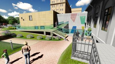 A kibővített, felújított kúria látványterve (forrás: Opauszki Zoltán facebook oldala)