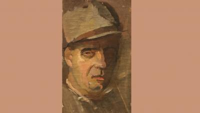 Mokos József: Önarckép (1930-as évek; Munkácsy Mihály Múzeum)