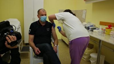 Sok egészségügyi dolgozó már a második oltását kapta meg. (Kép: Sipos Gábor/BMC)