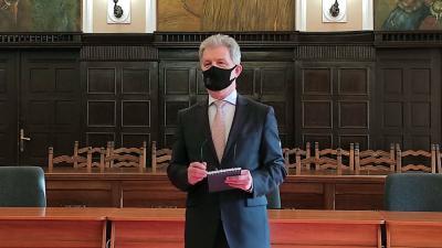 Szarvas Péter, Békéscsaba polgármestere (fotó: https://www.facebook.com/szarvas.peter.bcs)