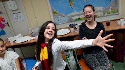 Farsang a Lencsési Általános Iskolában – Fotó: Farkas Éva tanárnő