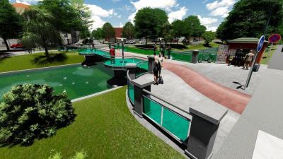 A tervek szerint ilyen lesz a József Attila és Deák utca közötti híd (látványterv: Opauszki Zoltán facebook oldala)