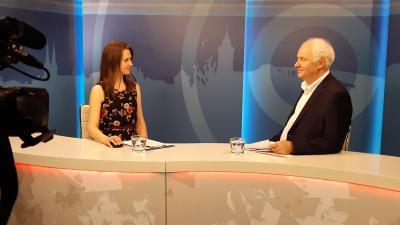 A 7.Tv stúdiójában Herczeg Tamás országgyűlési képviselővel Tóth Bianka műsorvezető beszélgetett
