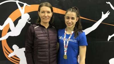 Urbanikné Rosza Mária és Kis Petra (fotó: Kopp Békéscsabai Atlétikai Club)