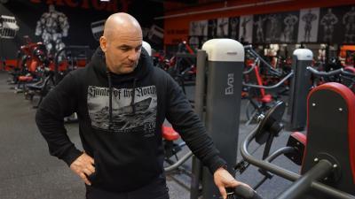 Kelemen Attila, a MuscleFit edzőtermek egyik tulajdonosa - (Fotó: Bagi József/behir.hu)