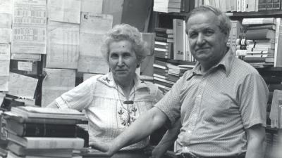 Püski Sándor és felesége, Ilus (Forrás: Békés Városi Püski Sándor Könyvtár)