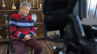Schneider István 2021. január 13-án, a 7.Tv-vel készült beszélgetés közben - (Fotó: Bagi József/behir.hu)