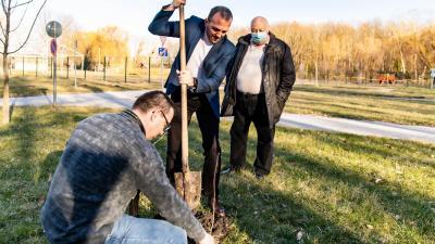 Hegyesi Szilárd (b), Kálmán Tibor és dr. Pálmai Tamás (Fotó: Gazsó János)