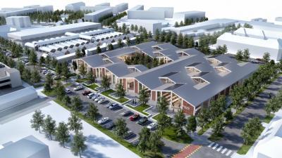 A tervek szerint így néz majd ki a megújult piac a parkolóházzal, térségi piaccal