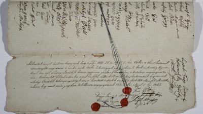 Örökváltsági szerződés (fotó: Munkácsy Mihály Múzeum)