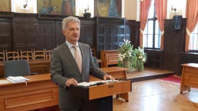 Szarvas Péter, Békéscsaba polgármestere (fotó: behir.hu/ Papp Ádám)