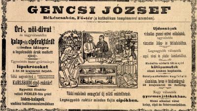 Hirdetés a Békésmegyei Közlönyben (1901. augusztus 11., Library Hungaricana)