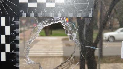 Betört buszmegálló-üveg - Fotó: police.hu