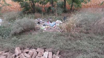 Illegális hulladéklerakat Szabadkígyós határában. (Forrás: police.hu)