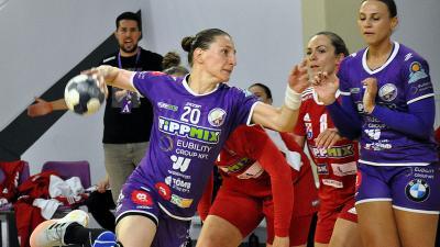 Tamara Radojevic 8 góllal vette ki a részét a Békéscsaba győzelméből – (Fotó: Such Tamás)