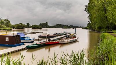 Az áradó Kettős-Körös. (A kép forrása: Facebook/Kálmán Tibor - Hivatalos
